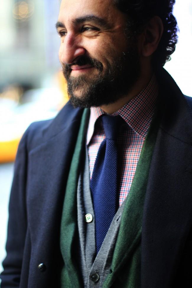 Gianluca-Migliarotti-aka-Kid-Dandy-aka-Brando-knitted-blue-tie