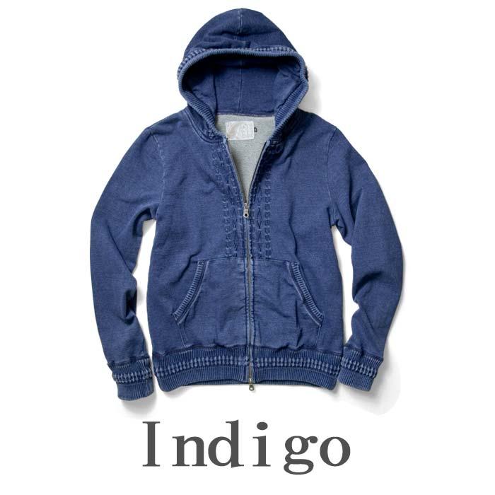 indigoパーカー