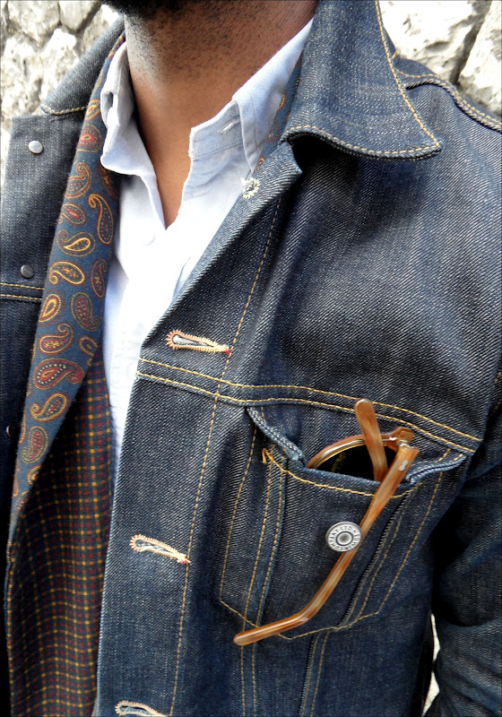 polo-denim-jacket-sunglasses-scarf