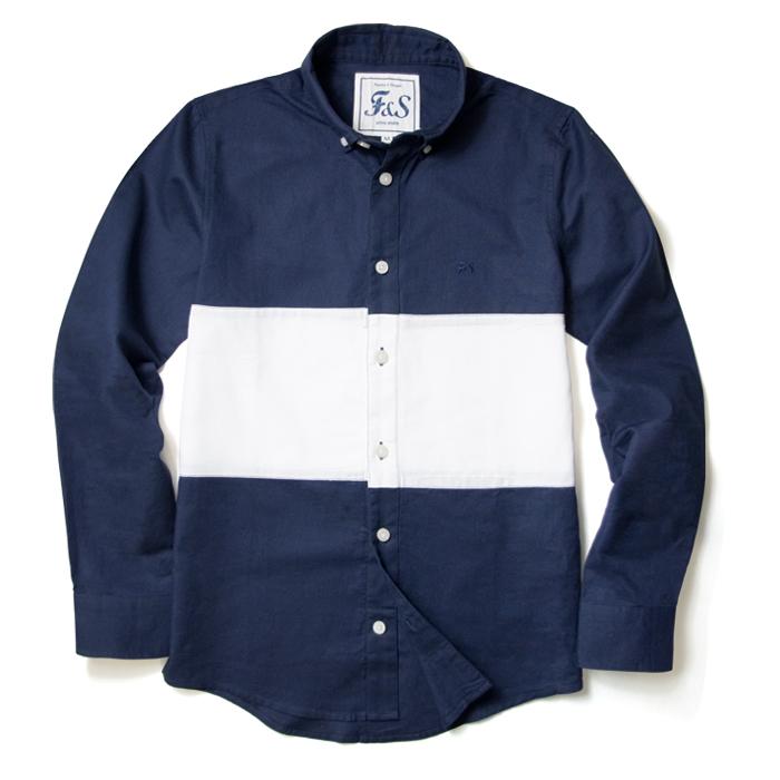 SLOWGAN-バイカラーシャツ-2